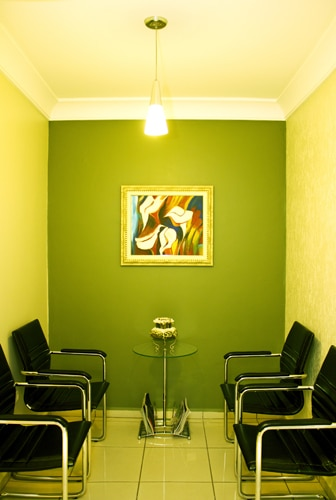 Sala de espera - Clínica Arte e Plástica de Cascavel - PR